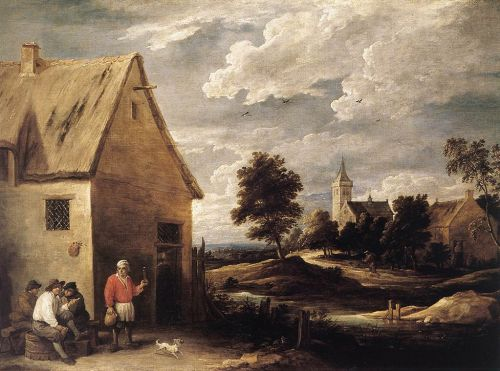 Village Scene by David Teniers the Younger