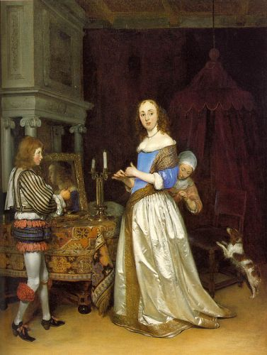A Lady at her toilette by Gerard Ter Borch