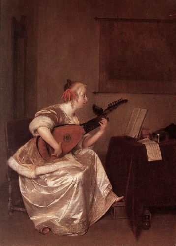 The Lute Player by Gerard Ter Borch
