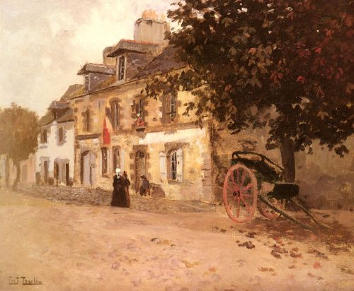 A Village Street In France by Frits Thaulow