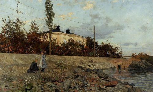 Evening at the Bay of Frogner by Frits Thaulow