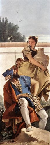 A Seated Man and a Girl with a Pitcher by Giambattista Tiepolo