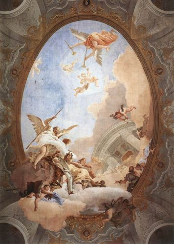 Allegory of Merit Accompanied by Nobility and Virtue by Giambattista Tiepolo
