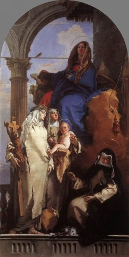 The Virgin Appearing to Dominican Saints by Giambattista Tiepolo