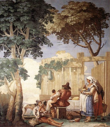 Family Meal by Giovanni Domenico Tiepolo