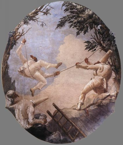 The Swing of Pulcinella by Giovanni Domenico Tiepolo