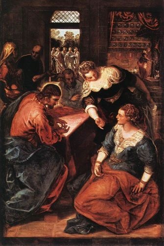 Christ in the House of Martha and Mary by Jacopo Robusti Tintoretto