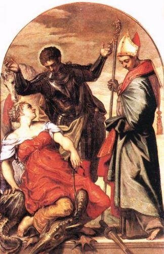 St Louis, St George and the Princess by Jacopo Robusti Tintoretto