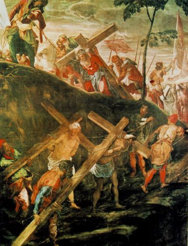 The Ascent to Calvary by Jacopo Robusti Tintoretto