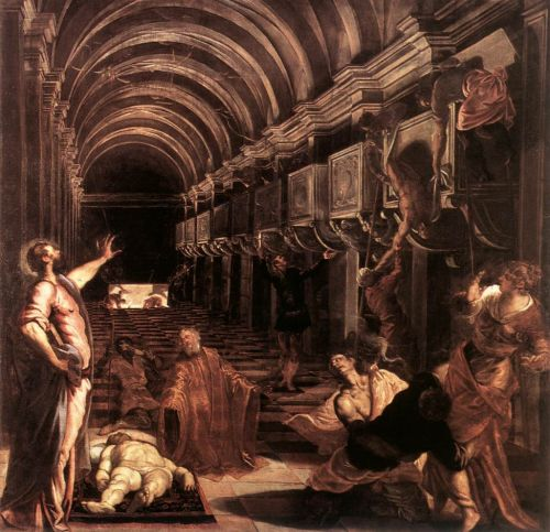 The Discovery of St Mark's Body by Jacopo Robusti Tintoretto