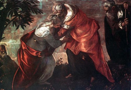 The Visitation by Jacopo Robusti Tintoretto