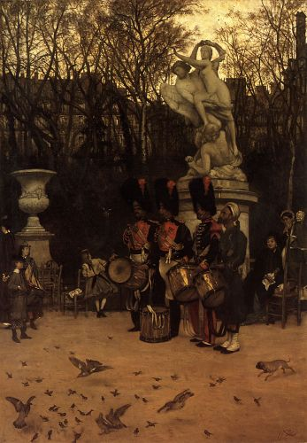 Beating the Retreat in the Tuileries Gardens by James Tissot