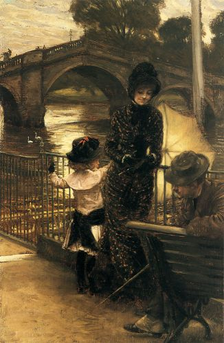 By the Thames at Richmond by James Tissot