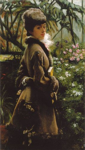 In the greenhouse by James Tissot