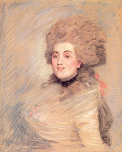 Portrait of an Actress in Eighteenth Century Dress by James Tissot