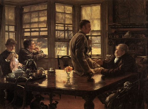 The Prodigal Son in Modern Life: The Departure by James Tissot