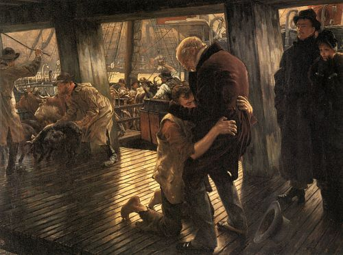 The Prodigal Son in Modern Life: The Return by James Tissot