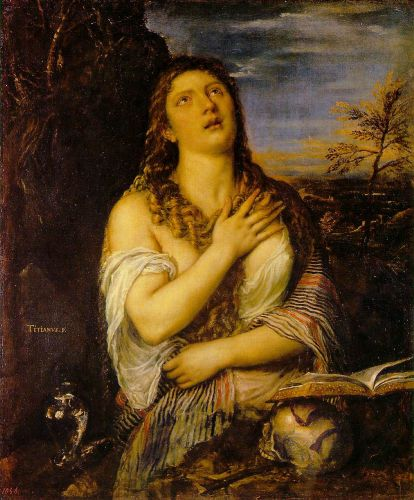 Penitent Mary Magdalen by Tiziano Vecellio Titian