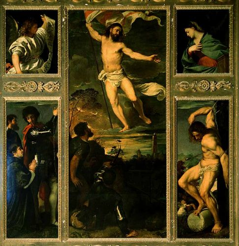 Polyptych of the Resurrection by Tiziano Vecellio Titian