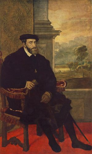 Portrait of Charles V Seated by Tiziano Vecellio Titian