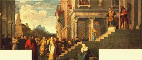 Presentation of the Virgin at the Temple by Tiziano Vecellio Titian