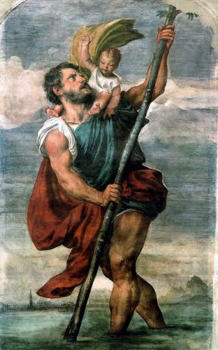Saint Christopher by Tiziano Vecellio Titian