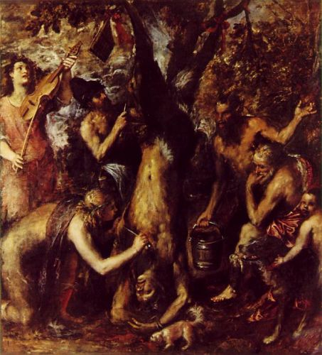 The Flaying of Marsyas by Tiziano Vecellio Titian