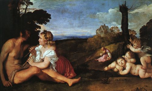 The Three Ages of Man by Tiziano Vecellio Titian