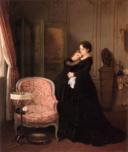Consolation by Auguste Toulmouche