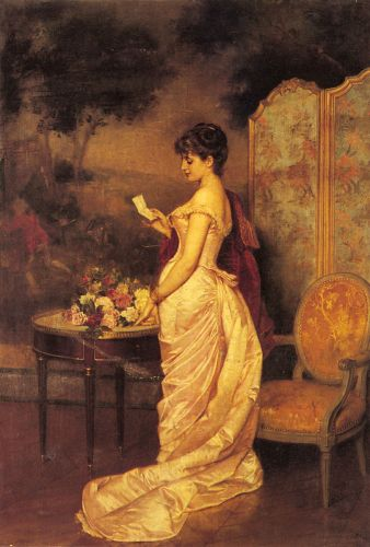 The Love Letter by Auguste Toulmouche