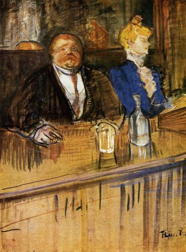 At the Cafe: The Customer and the Anemic Cashier by Henri de Toulouse-Lautrec