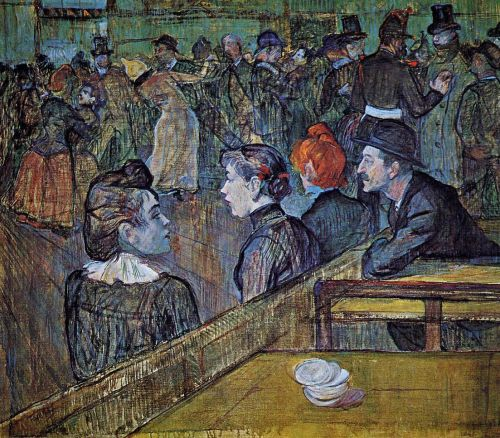 At the Moulin de la Galette Dance Hall by Henri de Toulouse-Lautrec
