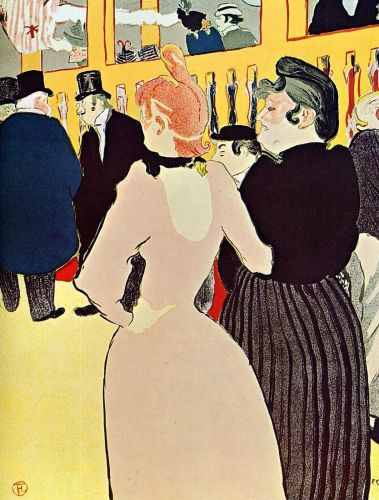 At the Moulin Rouge: La Goulue with Her Sister by Henri de Toulouse-Lautrec