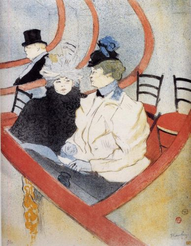 Box in the Grand Tier by Henri de Toulouse-Lautrec