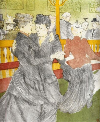 Dancing at the Moulin Rouge by Henri de Toulouse-Lautrec