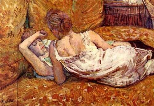 Devotion - The Two Girlfriends by Henri de Toulouse-Lautrec