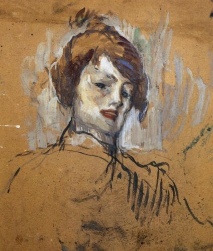 Head of a Woman by Henri de Toulouse-Lautrec