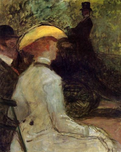 In the Bois de Boulogne by Henri de Toulouse-Lautrec