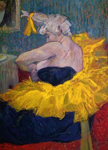 The Clowness Cha-U-Kao Fastening Her Bodice by Henri de Toulouse-Lautrec