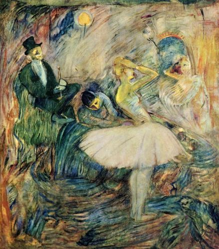 The Dancer in Her Dressing Room by Henri de Toulouse-Lautrec