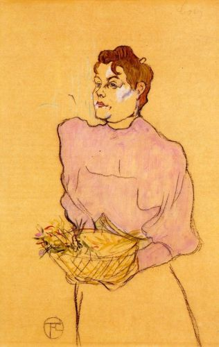 The Flower Seller by Henri de Toulouse-Lautrec