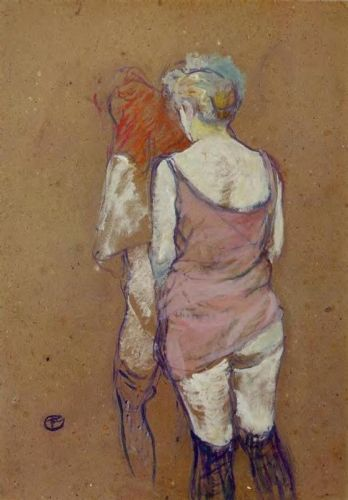 Two Half-Naked Women Seen from Behind by Henri de Toulouse-Lautrec