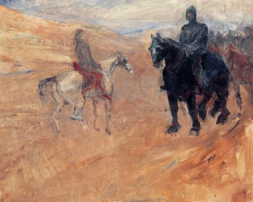 Two Knights in Armor by Henri de Toulouse-Lautrec