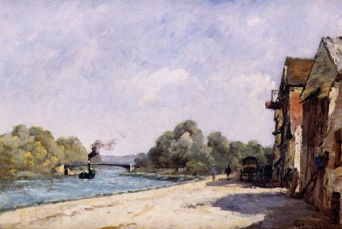 A Bridge over the Oise by Paul Desiré Trouillebert