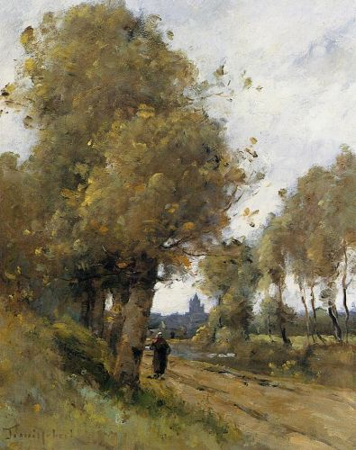 Road by the Side of the River Morbihan by Paul Desiré Trouillebert