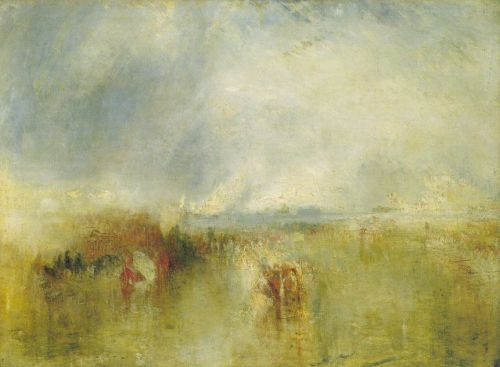 Procession of Boats with Distant Smoke, Venice by Joseph Mallord William Turner