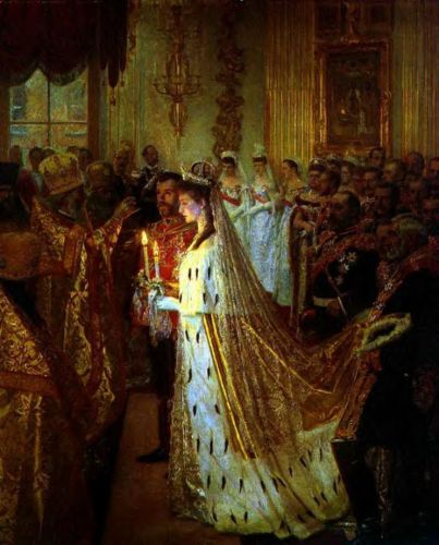 Wedding of Nicholas II by Laurits Tuxen