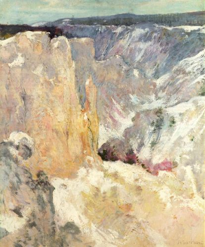 Canyon in the Yellowstone by John Henry Twachtman