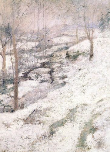 Frozen Brook by John Henry Twachtman