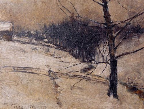 Snow Scene by John Henry Twachtman